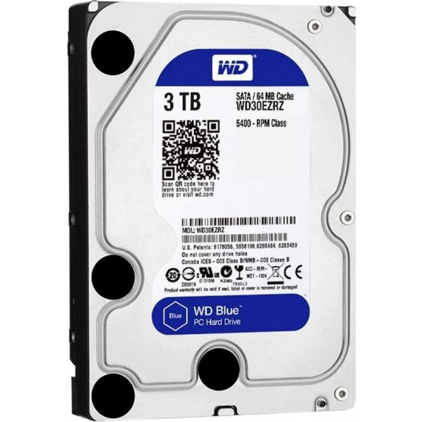 "Western Digital WD Blue 3.5"" 3TB Disques durs et SSD Western Digital, Ultra Pc Gamer Maroc"