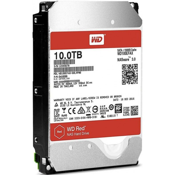 "Western Digital Red NAS 3.5"" 10TB Disques durs et SSD Western Digital, Ultra Pc Gamer Maroc"