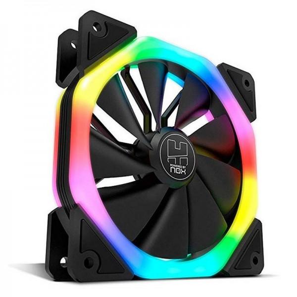 Nox D-Fan Dual Ring Rainbow RGB Refroidissement NOX, Ultra Pc Gamer Maroc