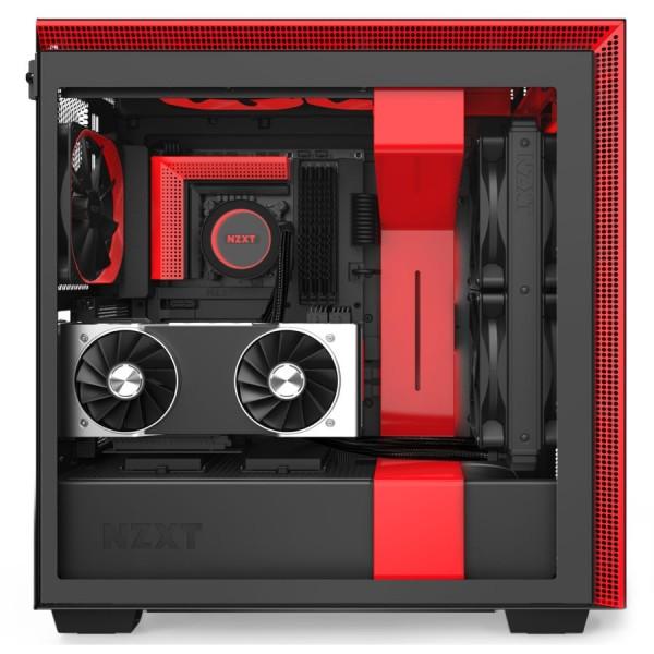 NZXT H710i Noir/Rouge Boitiers PC Nzxt, Ultra Pc Gamer Maroc