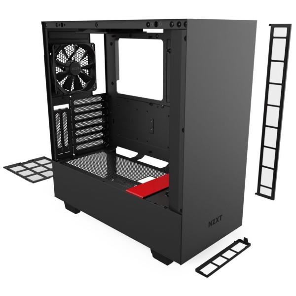 NZXT H510i Noir/Rouge RGB Boitiers PC Nzxt, Ultra Pc Gamer Maroc