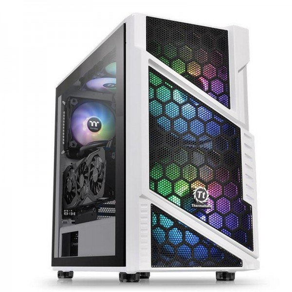 Thermaltake Commander C31 TG Snow ARGB Edition Boitiers PC Thermaltake, Ultra Pc Gamer Maroc