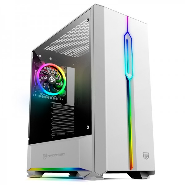Nfortec Antares RGB (blanc) Boitiers PC Nfortec, Ultra Pc Gamer Maroc