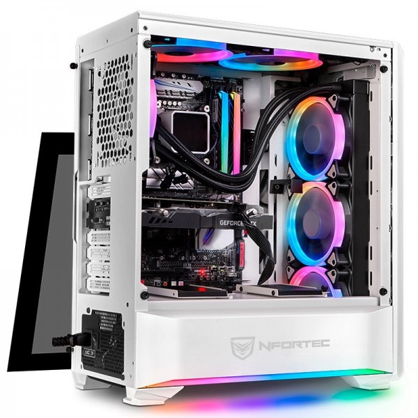 Nfortec Antares RGB (blanc) Boitiers PC Nfortec, Ultra Pc Gamer Maroc