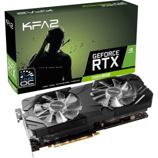KFA2 GeForce RTX 2060 SUPER 1-Click OC 8GB GDDR6 Cartes graphiques KFA2, Ultra Pc Gamer Maroc