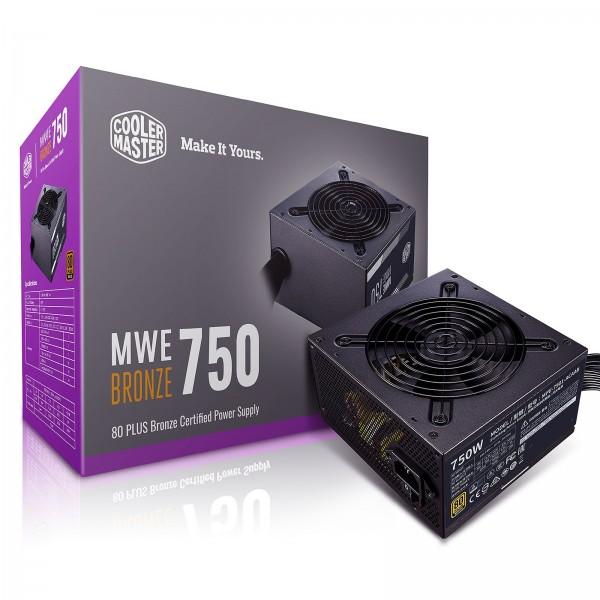 Cooler Master MWE 80PLUS Bronze 750W V2 Alimentations PC Cooler Master, Ultra Pc Gamer Maroc