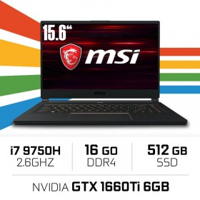 "MSI GS65 9SD-1426XES (STEALTH) Intel Core i7-9750H/16GB/512GB SSD/GTX 1660Ti/15.6"" PC Portables Gamer MSI, Ultra Pc Gamer Maroc"