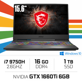 "MSI GP65 9SD-013ES (LEOPARD) Intel Core i7-9750H/16GB/1TB SSD/GTX 1660Ti/15.6"" PC Portables Gamer MSI, Ultra Pc Gamer Maroc"