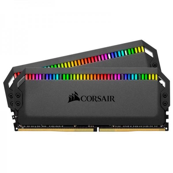 Corsair Dominator Platinum RGB 16Go (2x 8Go) DDR4 3200MHz CL16 Mémoire vive PC Corsair, Ultra Pc Gamer Maroc