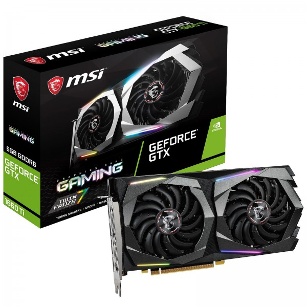 MSI GeForce GTX 1660 Ti GAMING 6GB GDDR6 Cartes graphiques MSI, Ultra Pc Gamer Maroc