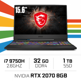"MSI GE65 9SF-292XES (RAIDER) Intel Core i7-9750H/32GB/1TB SSD/RTX 2070/15.6"" PC Portables Gamer MSI, Ultra Pc Gamer Maroc"