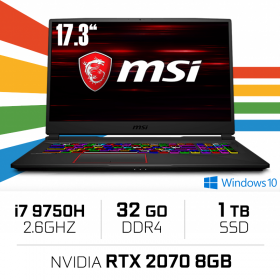 "MSI GE75 9SF-1085ES (RAIDER) Intel Core i7-9750H/32GB/1TB SSD/RTX 2070/17.3"" PC Portables Gamer MSI, Ultra Pc Gamer Maroc"