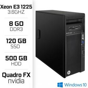 HP Z230 Workstation XEON E3-1225 V3 3.6GHz - 8Go - SSD 120GB - HDD 500GB PC Professionnels Hewlett-Packard, Ultra Pc Gamer Maroc