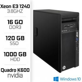 Z230 Workstation XEON E3-1240 V3 3.8GHz - 16Go - SSD 120GB - HDD 1000GB - Quadro k600 PC Professionnels Hewlett-Packard, Ultr...