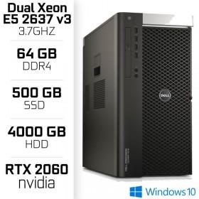 STATION DE TRAVAIL Dell Precision T7910 Tower Workstation - Intel Dual Xeon E5-2637 v3 - 64 Gb - Nvidia RTX 2060 PC Professio...