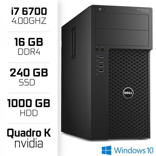 STATION DE TRAVAIL Dell Precision 3620 Workstation XEON i7-6700  16GB  SSD 240GB  HDD 1TB  QUADRO K420 PC Professionnels Dell...