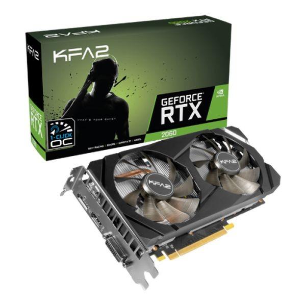 KFA2 GeForce RTX 2060 1-Click OC 6GB GDDR6 Cartes graphiques KFA2, Ultra Pc Gamer Maroc