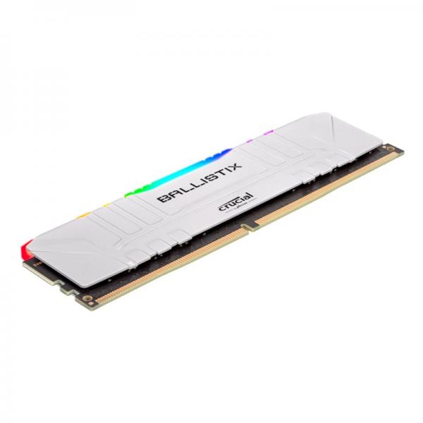 Crucial Ballistix White 8Go RGB DDR4 3000 MHz CL15 Mémoire vive PC Crucial, Ultra Pc Gamer Maroc
