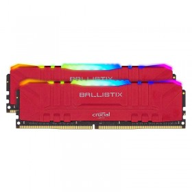Crucial Ballistix Red 16Go (2x8Go) RGB DDR4 3600 MHz CL16 Mémoire vive PC Crucial, Ultra Pc Gamer Maroc
