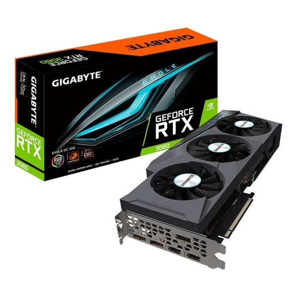 Gigabyte GeForce RTX 3080 EAGLE OC 10GB GDDR6X Cartes graphiques Gigabyte, Ultra Pc Gamer Maroc