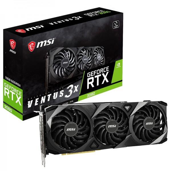 MSI GeForce RTX 3080 VENTUS 3X OC 10GB GDDR6X Cartes graphiques MSI, Ultra Pc Gamer Maroc