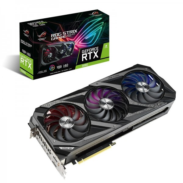 ASUS GeForce ROG STRIX RTX 3080 OC GAMING 10GB GDDR6X Cartes graphiques ASUS, Ultra Pc Gamer Maroc