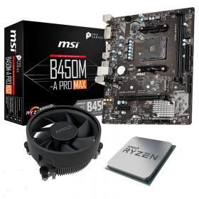 BUNDLE AMD Ryzen 5 3600 Wraith Stealth + MSI B450M-A PRO MAX Processeurs , Ultra Pc Gamer Maroc