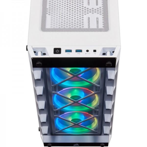 Corsair iCUE 465X RGB (Blanc) Boitiers PC Corsair, Ultra Pc Gamer Maroc