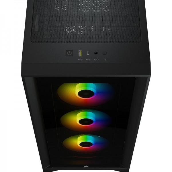 Corsair iCUE 4000X RGB Tempered Glass (Noir) Boitiers PC Corsair, Ultra Pc Gamer Maroc