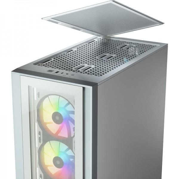 Corsair iCUE 4000X RGB Tempered Glass (Blanc) Boitiers PC Corsair, Ultra Pc Gamer Maroc