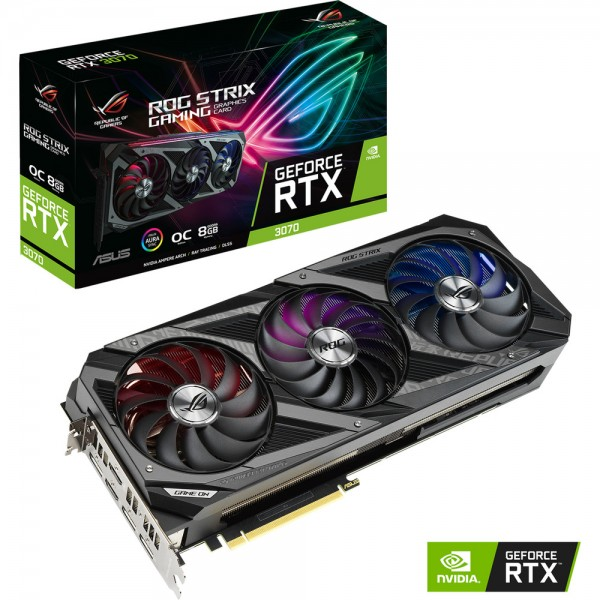 ASUS GeForce ROG STRIX RTX 3070 GAMING OC 8GB GDDR6 Cartes graphiques ASUS, Ultra Pc Gamer Maroc