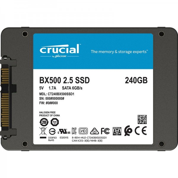 Crucial BX500 240GB (OEM) Disques durs et SSD Crucial, Ultra Pc Gamer Maroc