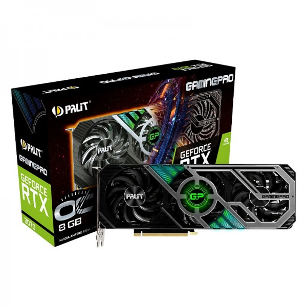 Palit GeForce RTX 3070 GamingPro OC 8GB GDDR6 Cartes graphiques Palit, Ultra Pc Gamer Maroc