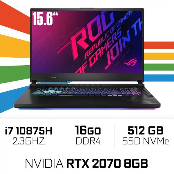 "Asus ROG G512LW-HN087 Intel i7-10875H/16GB/512GB SSD/RTX2070/15.6"" 144hz PC Portables Gamer ASUS, Ultra Pc Gamer Maroc"