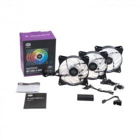 Cooler Master MasterFan MF120R ARGB 120mm 3in1 (Pack+contrôleur) Ventilateurs boîtier Cooler Master, Ultra Pc Gamer Maroc
