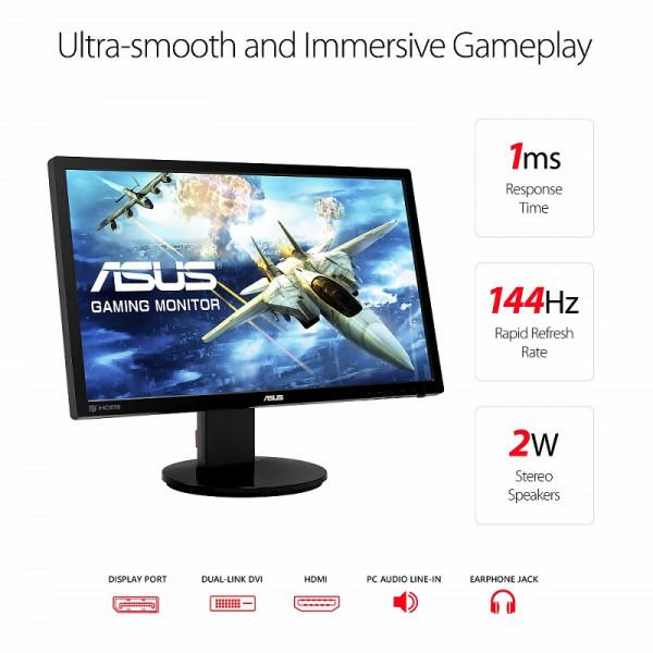 "ASUS VG248QZ 24"" LED 144 Hz Moniteurs ASUS, Ultra Pc Gamer Maroc"
