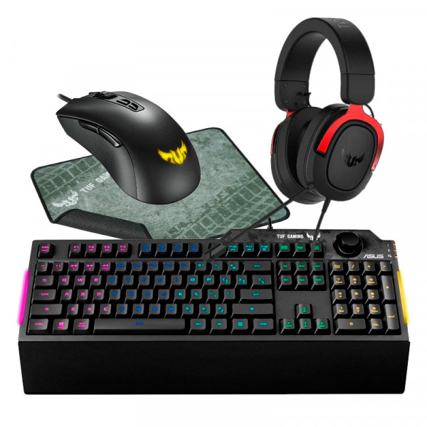 BUNDLE ASUS TUF Gaming K1 + M3 + P3 + H3 Kits claviers/souris Cooler Master, Ultra Pc Gamer Maroc
