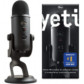 Blue Microphones Yeti Blackout Microphones Blue Microphones, Ultra Pc Gamer Maroc