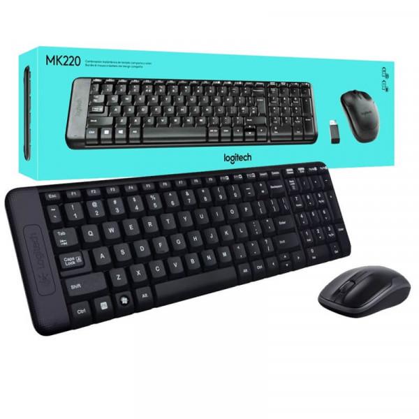 Logitech Desktop MK220 Sans-fil (AZERTY) Kits claviers/souris Logitech, Ultra Pc Gamer Maroc