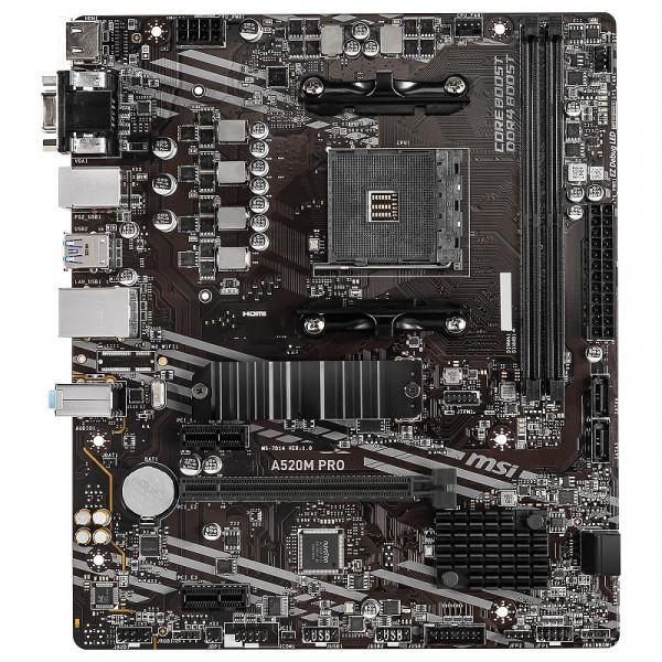 MSI A520M PRO Cartes mères MSI, Ultra Pc Gamer Maroc