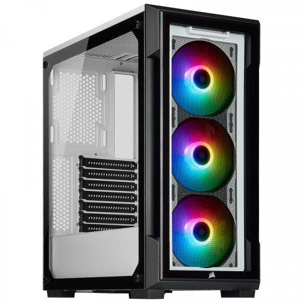 Corsair iCUE 220T RGB Tempered Glass (Blanc) Boitiers PC Corsair, Ultra Pc Gamer Maroc