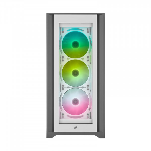 Corsair iCUE 5000X RGB Tempered Glass (Blanc) Boitiers PC Corsair, Ultra Pc Gamer Maroc