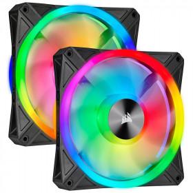 Corsair QL Series QL140 RGB (Par 2) Noir Refroidissement Corsair, Ultra Pc Gamer Maroc