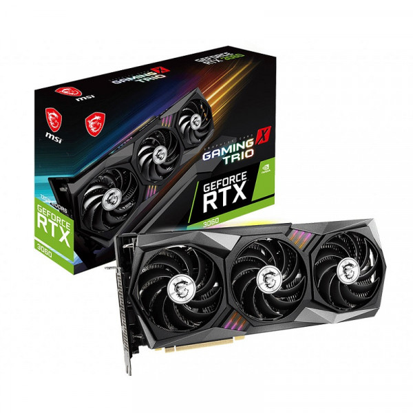 MSI GeForce RTX 3060 Gaming X Trio 12GB GDDR6 Cartes graphiques MSI, Ultra Pc Gamer Maroc