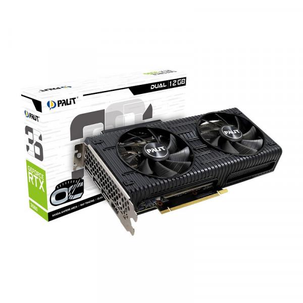 Palit GeForce RTX 3060 Dual OC 12GB GDDR6 NVIDIA Palit, Ultra Pc Gamer Maroc