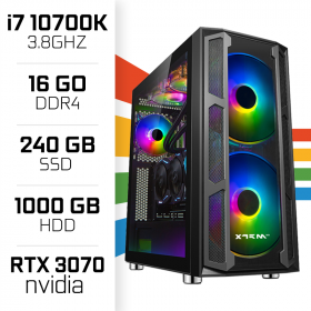 PC Gamer UltraPC i7 Overclock GEN10-VII 10700K/1TB+240SSD/16GB/RTX3070 PC Gamer Avancé , Ultra Pc Gamer Maroc