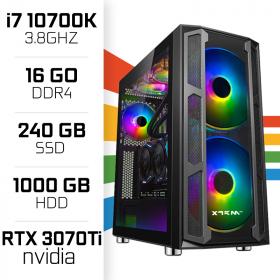 PC Gamer UltraPC i7 Overclock GEN10-VIII 10700K/1TB+240SSD/16GB/RTX3070Ti PC Gamer Avancé , Ultra Pc Gamer Maroc