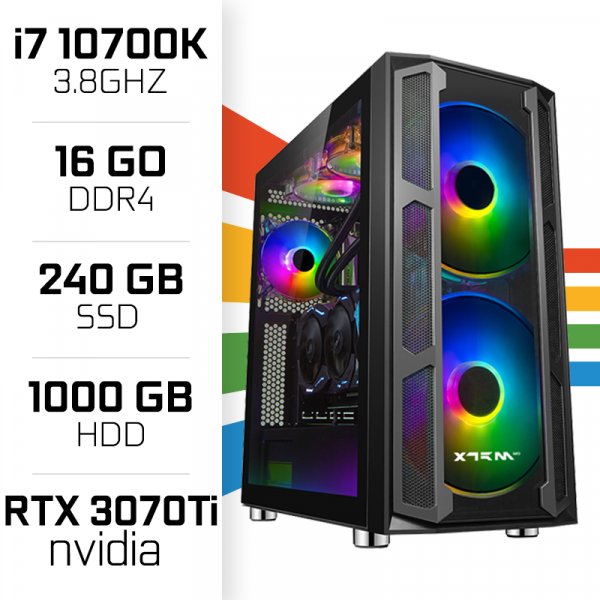 PC Gamer UltraPC i7 Overclock GEN10-VII 10700K/1TB+240SSD/16GB/RTX3070Ti PC Gamer Avancé , Ultra Pc Gamer Maroc