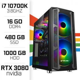 PC Gamer UltraPC i7 Overclock GEN10-VIII 10700K/1TB+480SSD/16GB/RTX3080 PC Gamer Avancé , Ultra Pc Gamer Maroc