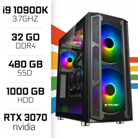 PC Gamer UltraPC i9 Overclock GEN10-II 10900K/1TB+480SSD/32GB/RTX3070 PC Gamer Avancé , Ultra Pc Gamer Maroc